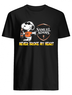 Snoopy samuel adams beer never broke my heart shirt