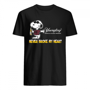 Snoopy yuengling america's oldest brewery beer never broke my heart  Classic Men's T-shirt