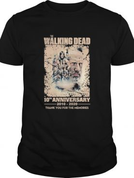 The walking dead movie 10th anniversary 2010 2020 thank you for the memories signature shirt