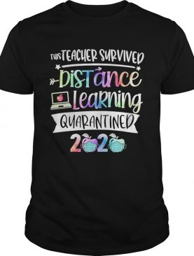 This teacher survived distance learning quarantined 2020 apple mask shirt