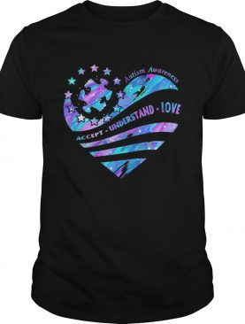 Autism Awareness Accept Understand Love Breast cancer heart shirt