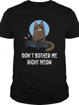 Cat Gamer Dont Bother Me Right Meow shirt