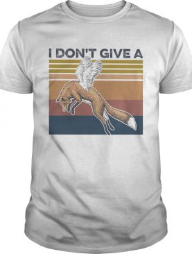 Foxwings i dont give a vintage retro shirt