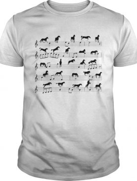 Horse Notes On Sheet Music shirt