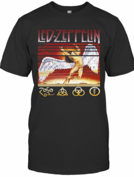 Led Zeppelin Swan Song Vintage Retro T-Shirt