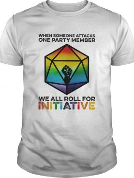 Lgbt when someone attacks a party member we all roll for initative black lives matter shirt
