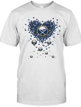 Love Buffalo Sabres Hockey Logo Hearts T-Shirt