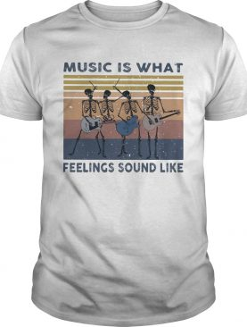 Seleketon music is what feelings sound like vintage retro shirt