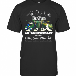 The Beatles 60Th Anniversary 1960 2020 Signature Crossing The Line T-Shirt Classic Men's T-shirt