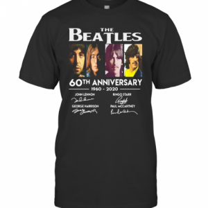 The Beatles 60Th Anniversary 1960 2020 Signatures John Lennon T-Shirt Classic Men's T-shirt