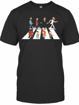 The Beatles And Harry Potter Characters Abbey Road T-Shirt