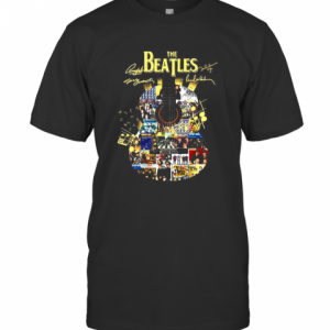 The Beatles Picture Guitar Signature T-Shirt Classic Men's T-shirt