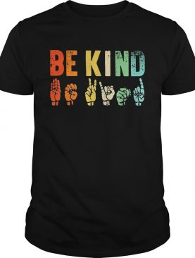 Be Kind Sign Language shirt