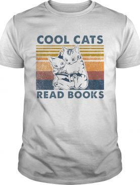 Cool Cats Read Books Vintage shirt