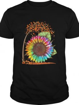 Fall Autumn Colorful Sunflower shirt