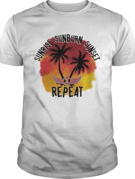 Hippie sunrise sunburn sunset repeat shirt