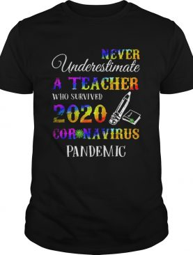 Never Underestimate A Teacher Who Survived 2020 Coronavirus Pandemic shirt