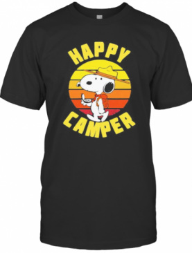Snoopy Happy Camper Vintage Retro T-Shirt
