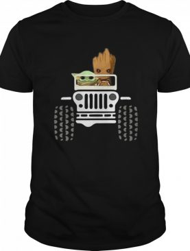 Baby Yoda And Baby Groot Jeep shirt