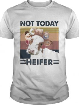 Cow Curlers Not today heifer vintage retro shirt