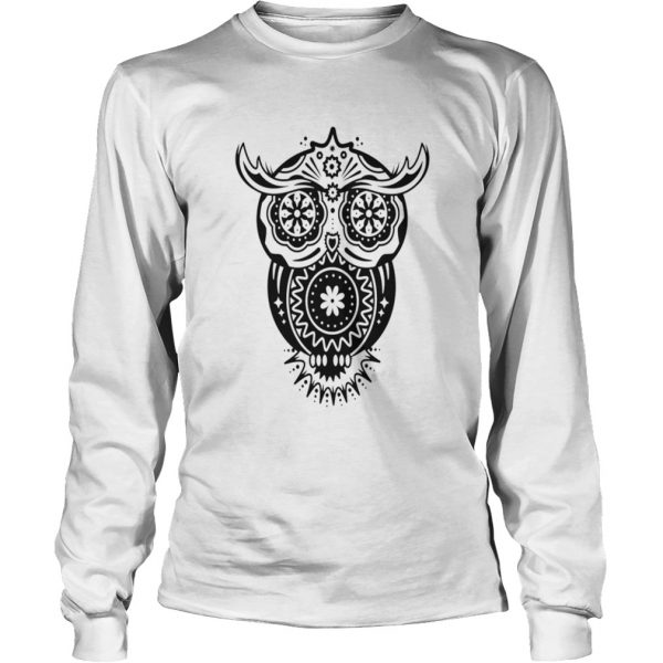 Different Decorations In The Style Of The Mexican Sugar Skulls  Long Sleeve