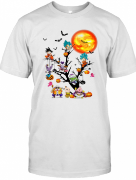 Dragon Ball Character Tree Halloween T-Shirt