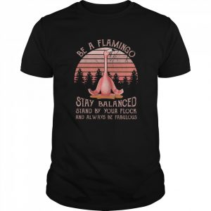 Flamingo Be A Flamingo Stay Balanced Stand By Your Flock And Always Be Fabulous  Classic Men's T-shirt