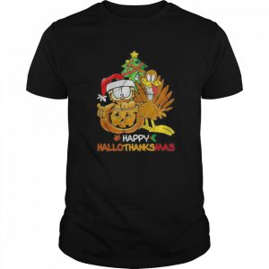 Garfield Happy Hallothanksmas  Classic Men's T-shirt