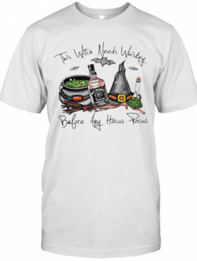 Jack Daniels This Witch Needs Whiskey Before Any Hocus Pocus T-Shirt