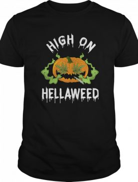 Pumpkin Weed High On Hellaweed shirt