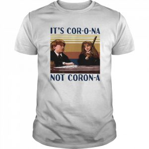 Ron Weasley And Hermione Granger It's Cor-o-na Not Coron-a Vintage  Classic Men's T-shirt