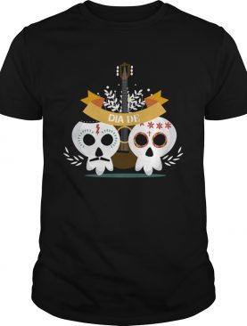 Skull Couple Guitar Day Of The Dead shirt