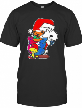 Snoopy Woodstock And Bear Grateful Dead Merry Christmas T-Shirt