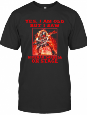 Yes I Am Old But I Saw Dimebag Darrell On Stage Halloween T-Shirt