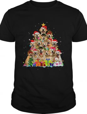 Christmas Pajama Golden Retrievers Tree Xmas Gift Dog Lover shirt