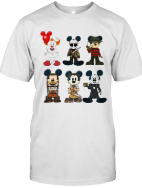 Halloween Mickey Mouse Horror Characters T-Shirt