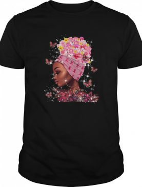 In October We Wear Pink Black Woman Breast Cancer Awareness shirt