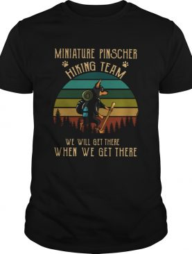 Miniature Pinscher HikingTeam Vintage shirt