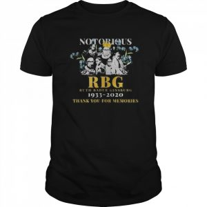 Notorious RBG Ruth Bader Ginsburg 1933-2020 Thank You For Memories  Classic Men's T-shirt