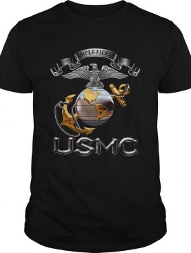 Novelty Mens USMCSemper Fidelis shirt