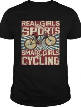 Real girls love sports smart girls love Cycling Vintage shirt