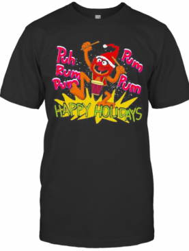 The Muppets Drummer Puh Rum Pum Happy Holiday T-Shirt