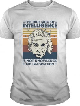 The True Sign Of Intelligence Is Not Knowledge But Imagination Vintage shirt