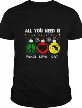 All You Need Is Peace Love Cat shirt