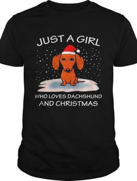 Just A Girl Who Loves Dachshund And Christmas shirt