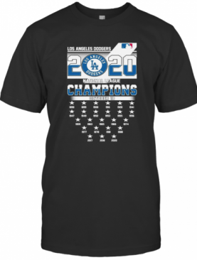 Los Angeles Dodgers 2020 Nation League Champions October 18 T-Shirt
