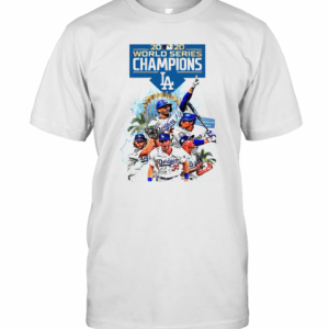 Los Angeles Dodgers 2020 World Series Champions Player Legend T-Shirt Classic Men's T-shirt