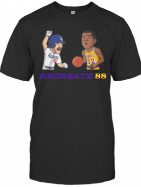 Los Angeles Dodgers And Lakers Recreate 88 T-Shirt