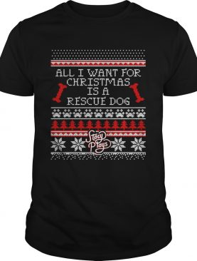 Rescue Dog Christmas shirt