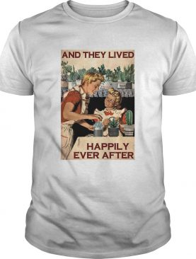 Succulent Mom And Daughter And They Lived Happily Ever After Poster shirt